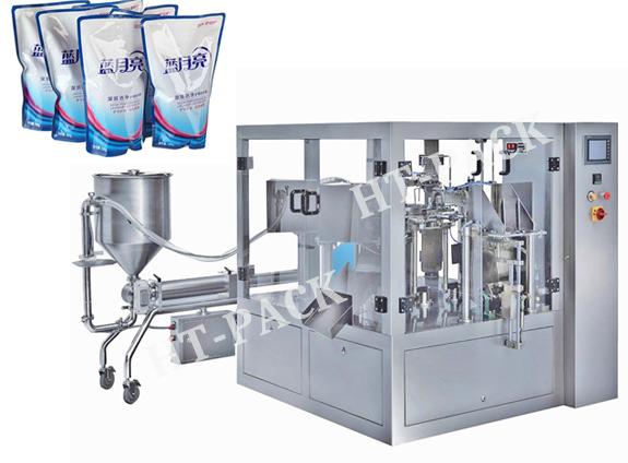 给袋液体包装机 全自动给袋汤料包装机